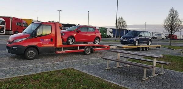 wywóz nowych samochodów