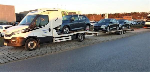transport osobowych aut