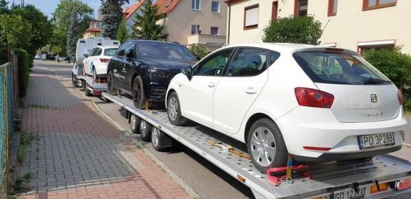 transport samochodów osobowych